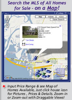 Search the AL Gulf Coast MLS Free: View all Homes for Sale on a Clickable & Draggable Map Interface
